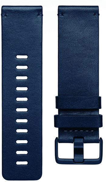 fitbit Versa, Accessory Band, Leather, Midnight Blue, Large