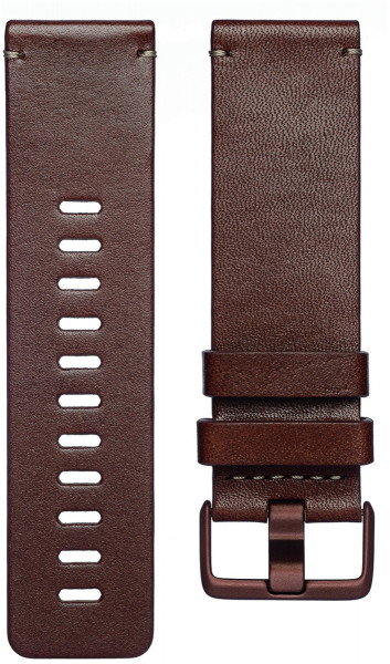 fitbit Versa, Accessory Band, Leather, Cognac, Small