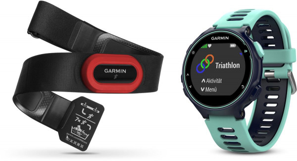 Garmin Forerunner 735XT, Europe, Midnight Blue/Frost Blue Run